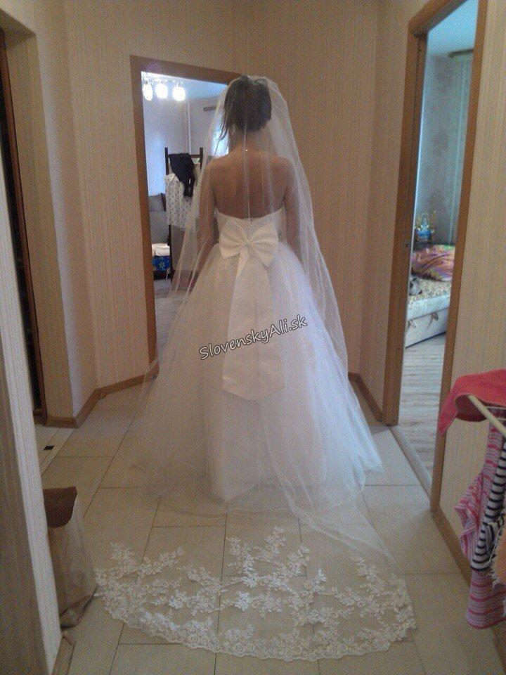 ccee9132caa8 Svadobné šaty s mašľou za super cenu z Aliexpress